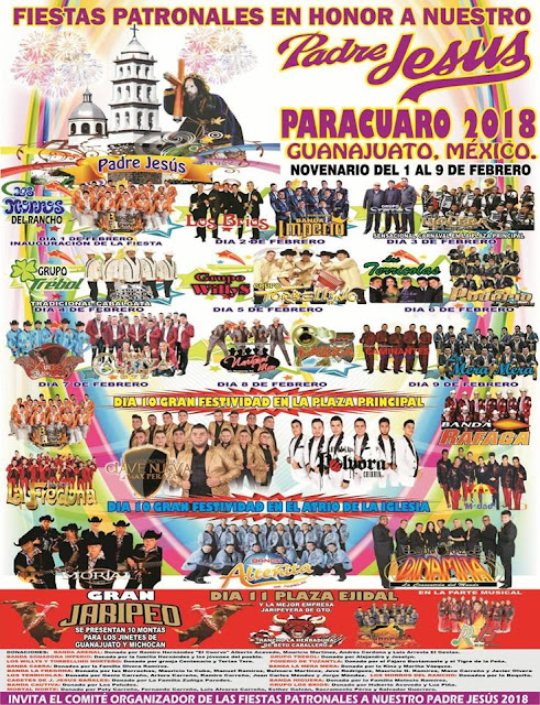 fiestas patronales parácuaro 2018