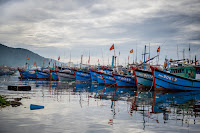 Fishing boats at Thuan Phuoc port in Danang, Vietnam. Vietnam is locked in a dispute with the Chinese government over the South China Sea, with a history of violent clashes since 1974. (Credit: Linh Pham / Getty Images) Click to Enlarge.