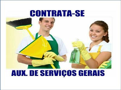 Vaga de Emprego para AUXILIAR DE SERVIÇOS GERAIS