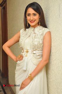 Actress Pragya Jaiswal Stills in Beautiful White Dress at turodu Audio Launch  0030.JPG