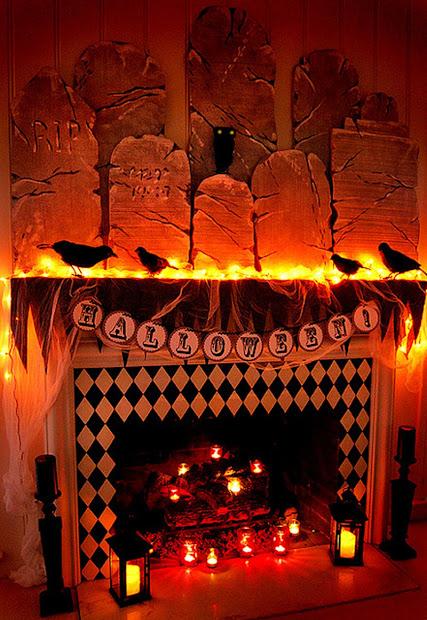 Halloween Fireplace Decorations