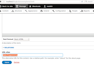 Membuat Costum URL Taxonomy Drupal 8