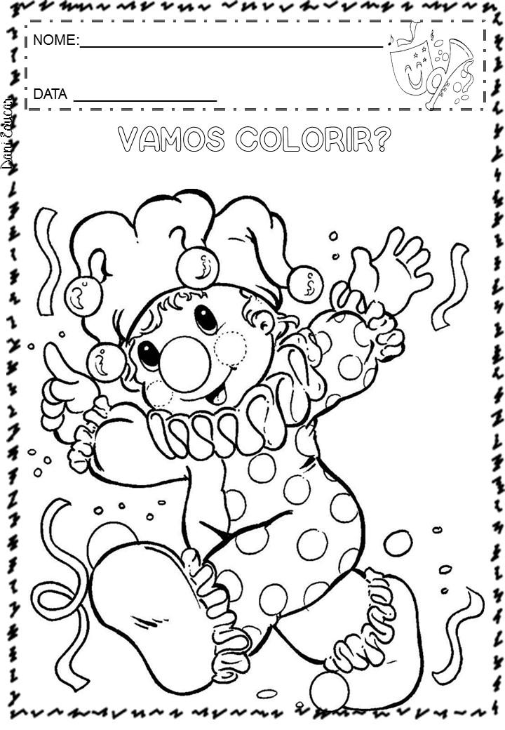 Atividades E Desenhos Para Colorir Carnaval So Escola