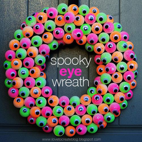 Spooky Eyeball Wreath Ilovetocreate
