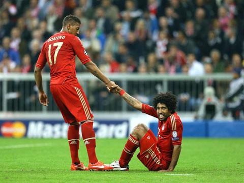 Boateng và Dante đang là 2 lá chắn thép của Bayern Munich