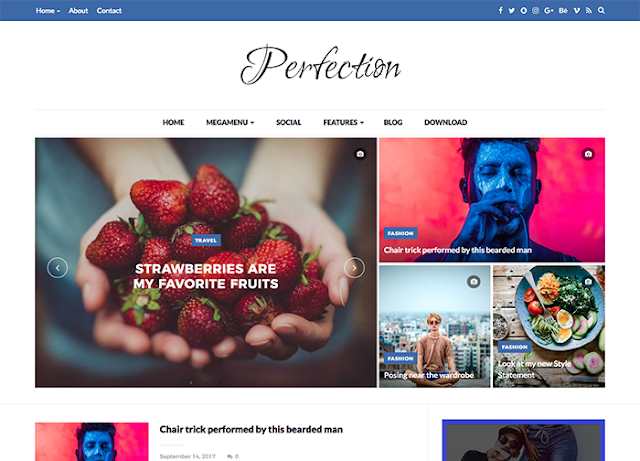 erfection is a Premium Blogger Template best suited for sites that deliver word near Tech Free Download Perfection Blogger Template