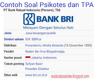 Contoh Soal Psikotes BUMN & TPA Bank BRI Jawabannya Gratis Pdf Download