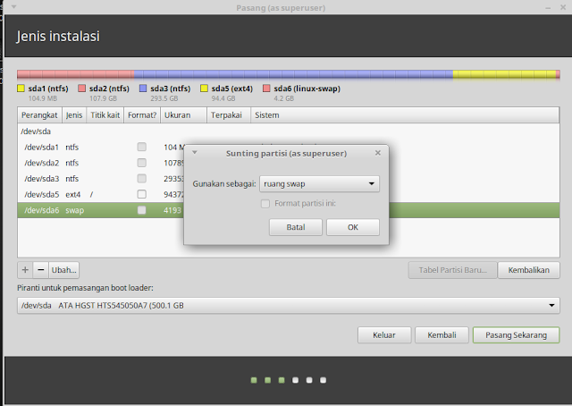 Cara Install Linux Mint Dual Boot dengan Windows Cara Install Linux Mint Dual Boot dengan Windows