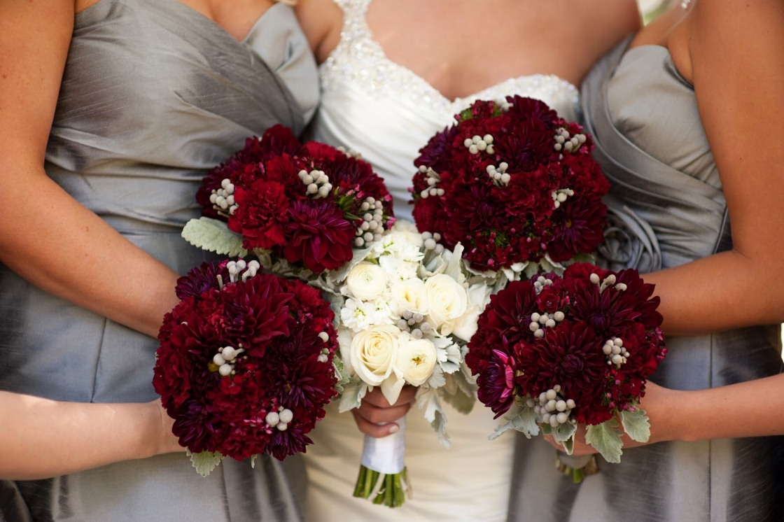Simple Wedding Bouquet Fall Color Schemes