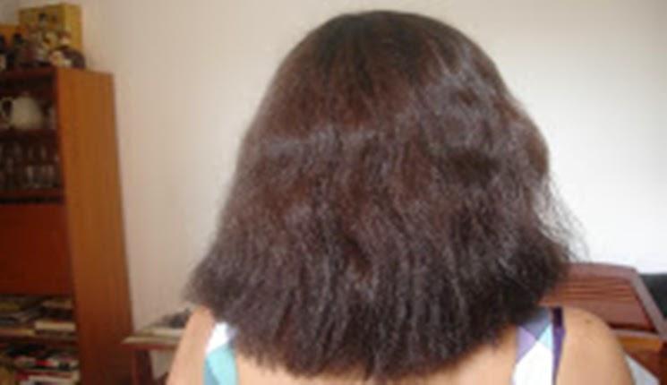 cabello antes de la keratina