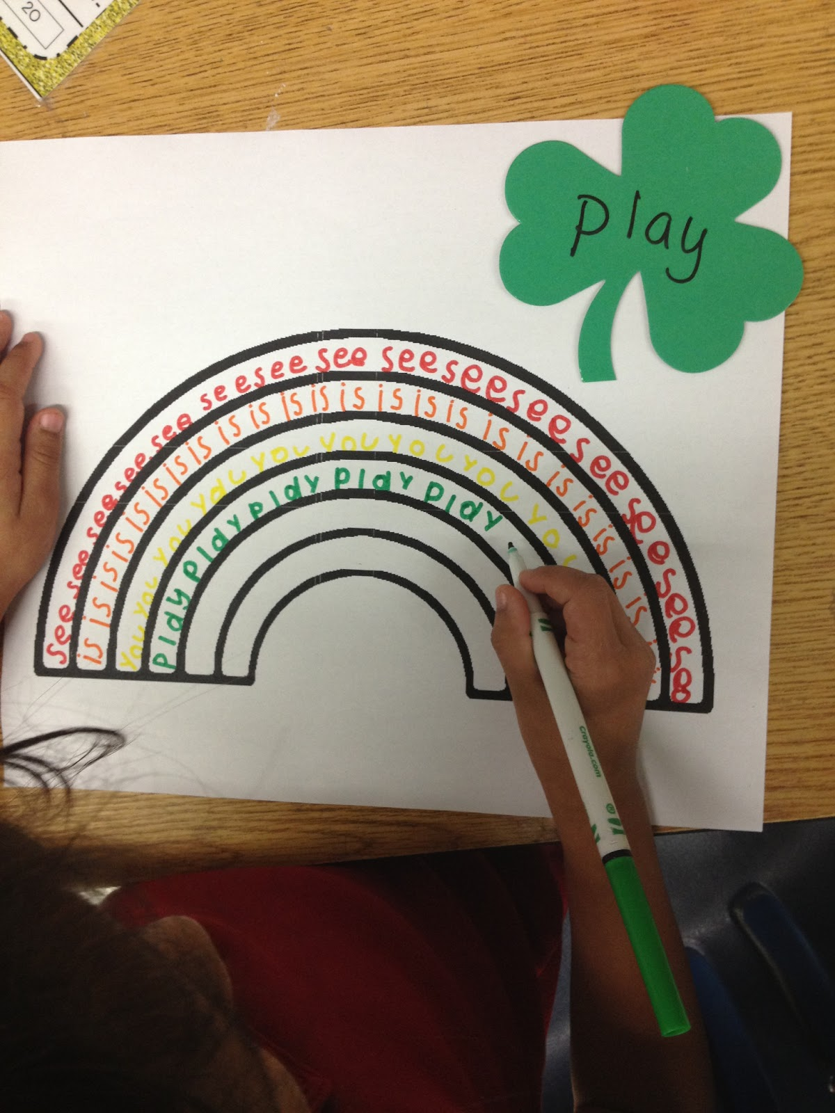 Sight Word Rainbows Simple Idea Image Only