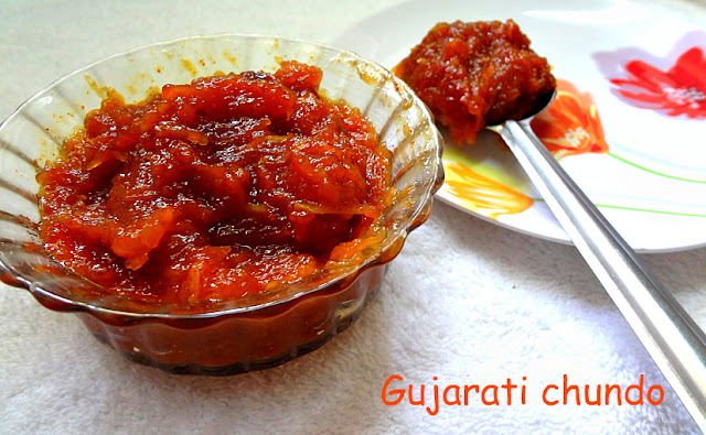 A delicious sweet spicy Gujarati pickle
