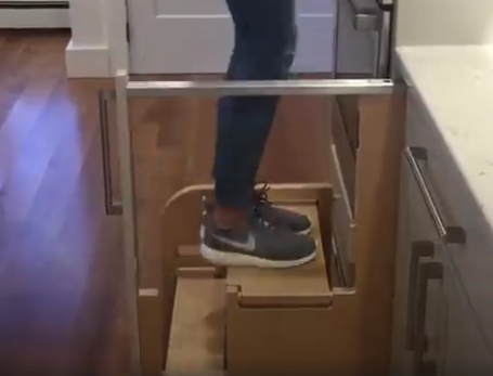 Folding Ladder Alternatives For In The Kitchen In Order To Reach A High Shelf