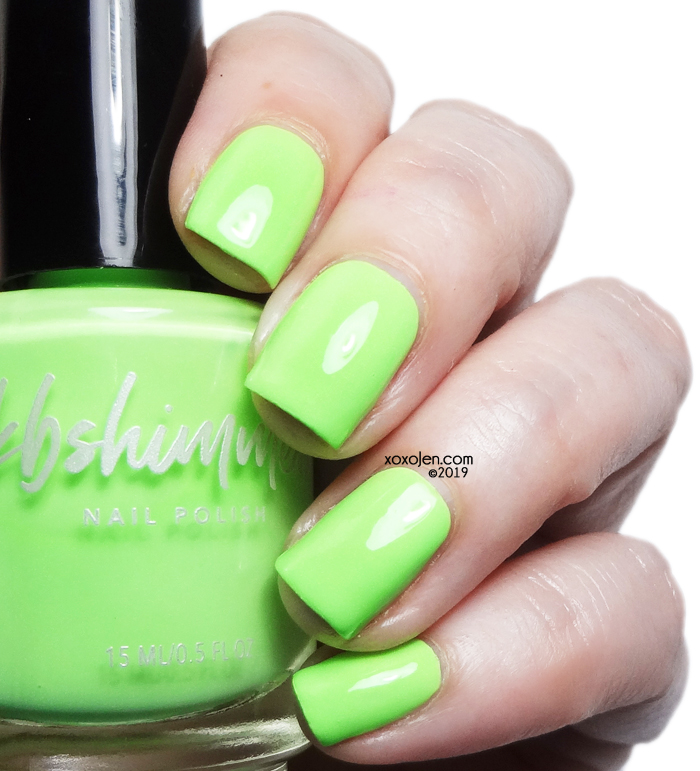 xoxoJen's swatch of KBShimmer Lime All Right