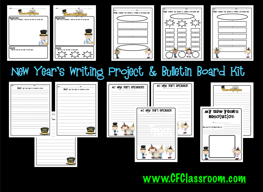 New Year's Resolutions Writing Kit for Grades K-5 ...