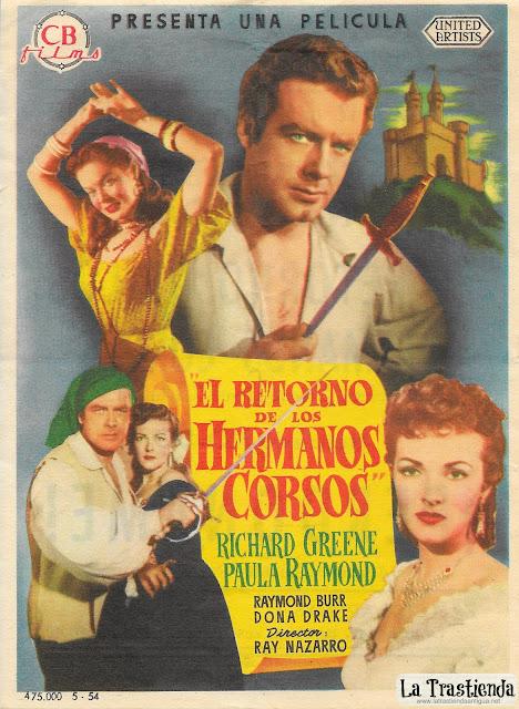 El Retorno de los Hermanos Corsos - Programa de Cine - Richard Greene - Paula Raymond
