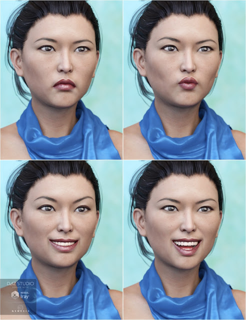 Expressions for Mei Lin 7 and Genesis 3 Female