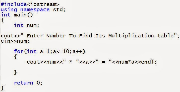 C++ program to multiply two numbers without using multiplication operator