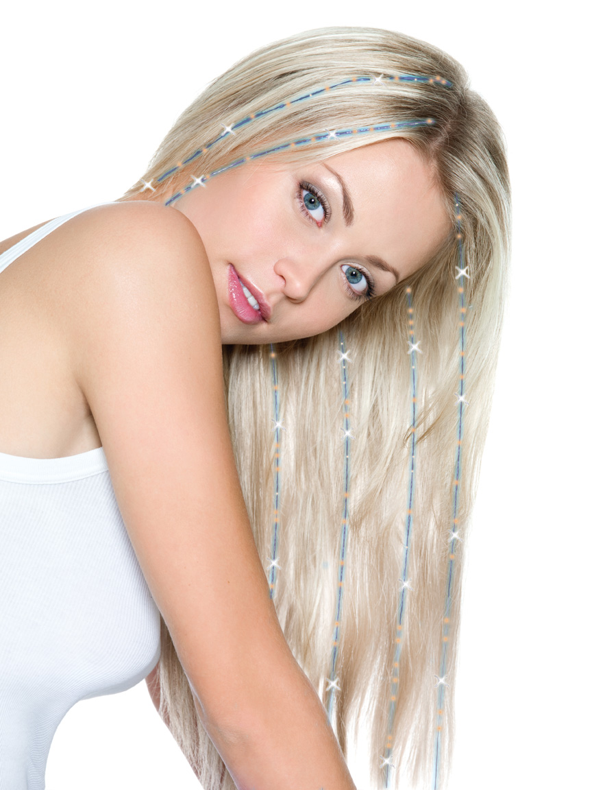 Glam Strand Hair Accessories Electric Blue Guitar Hair Tinsel