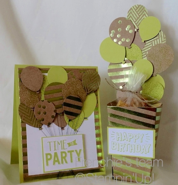 Confetti Celebration, Balloon Bouquet Punch, Popcorn Box Thinlits, Stampin'Up!, Frenchie's Customer Appreciation