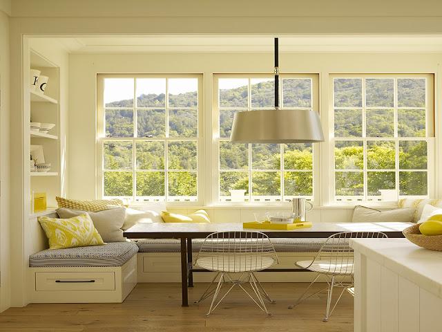 Rama alba fereastra bucătărie design