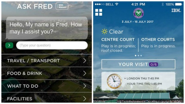 Image Attribute: Wimbledon and IBM create Fred, an AI chatbot for tennis fans