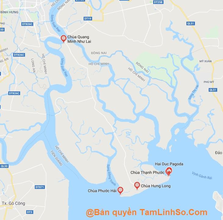 Cần Giờ là huyện có ít chùa nhất tại Sài Gòn