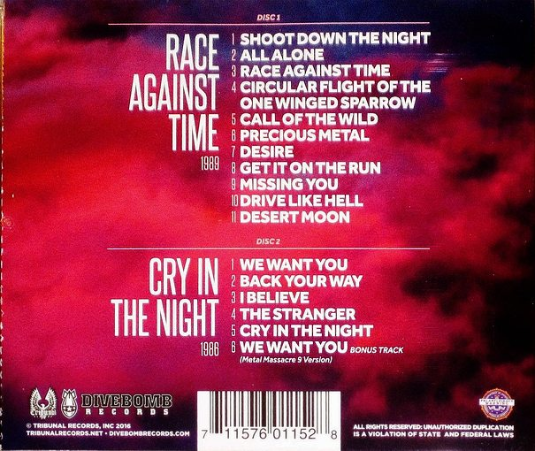 BANSHEE - Race Against Time / Cry In The Night [digitally remastered +1] (2016) back