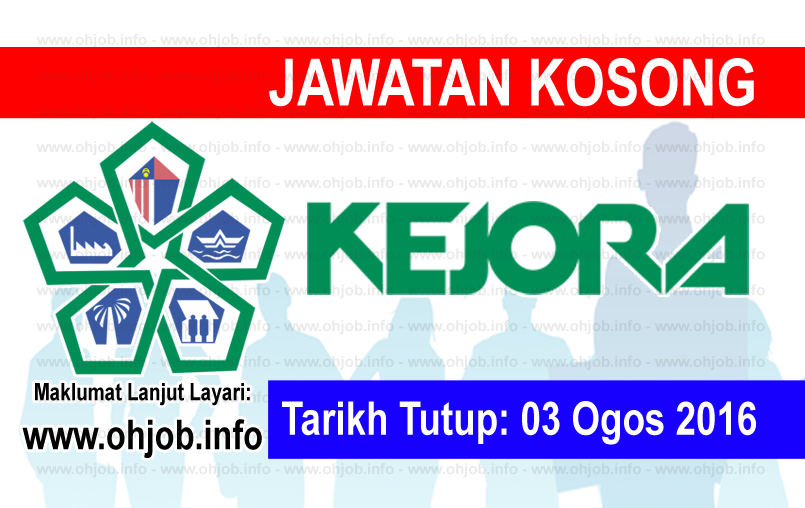 Jawatan Kerja Kosong Lembaga Kemajuan Johor Tenggara (KEJORA) logo www.ohjob.info ogos 2016