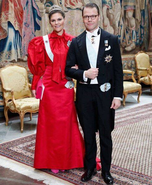 Queen Silvia wore a gown by Georg and Arend. Princess Madeleine wore a gown by Ida Sjöstedt. Princess Sofia wore a gown by Ida Lanto