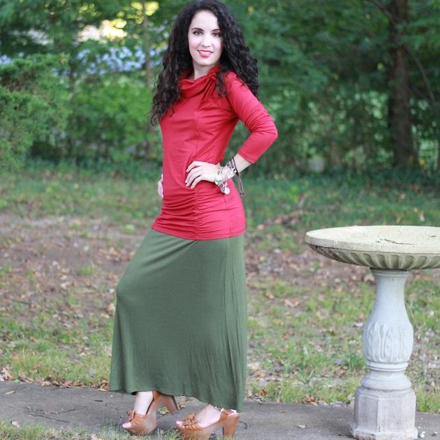 Ninedaily Tunic and Simlu Maxi Skirt