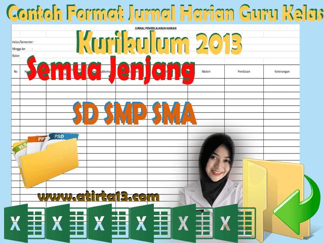 Contoh Format Jurnal Harian Guru Kelas Kurikulum 2013 Semua Jenjang