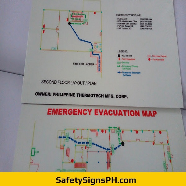 Photoluminescent Evacuation Maps Philippines