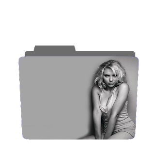 Preview of Sexy grey scale Scarlett Johansson photoshoot icon