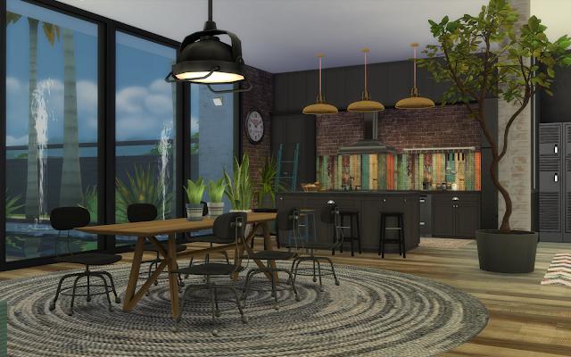 salle à manger industrielle sims 4