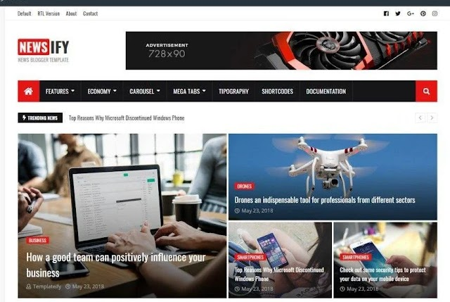 Newsify – Responsive Blogger Template