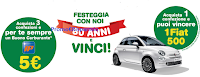 Logo Con Saila 4.000 buoni carburanti sicuri e vinci una Fiat 500