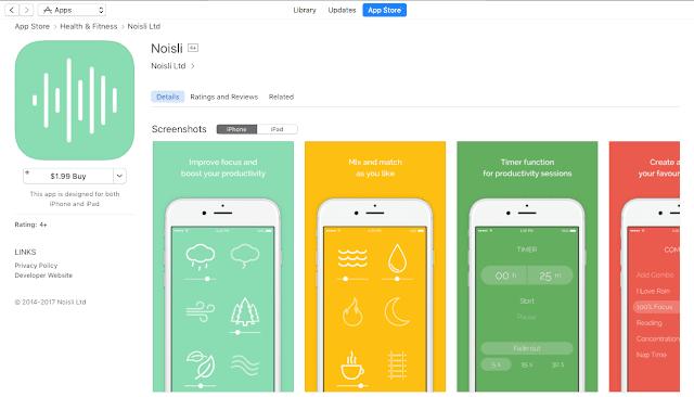 iPhone用のNoisliアプリ