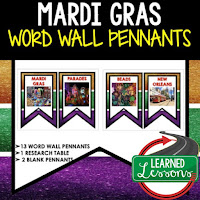 Mardi Gras Activities, Louisiana History, Word Wall, Classroom Decor
