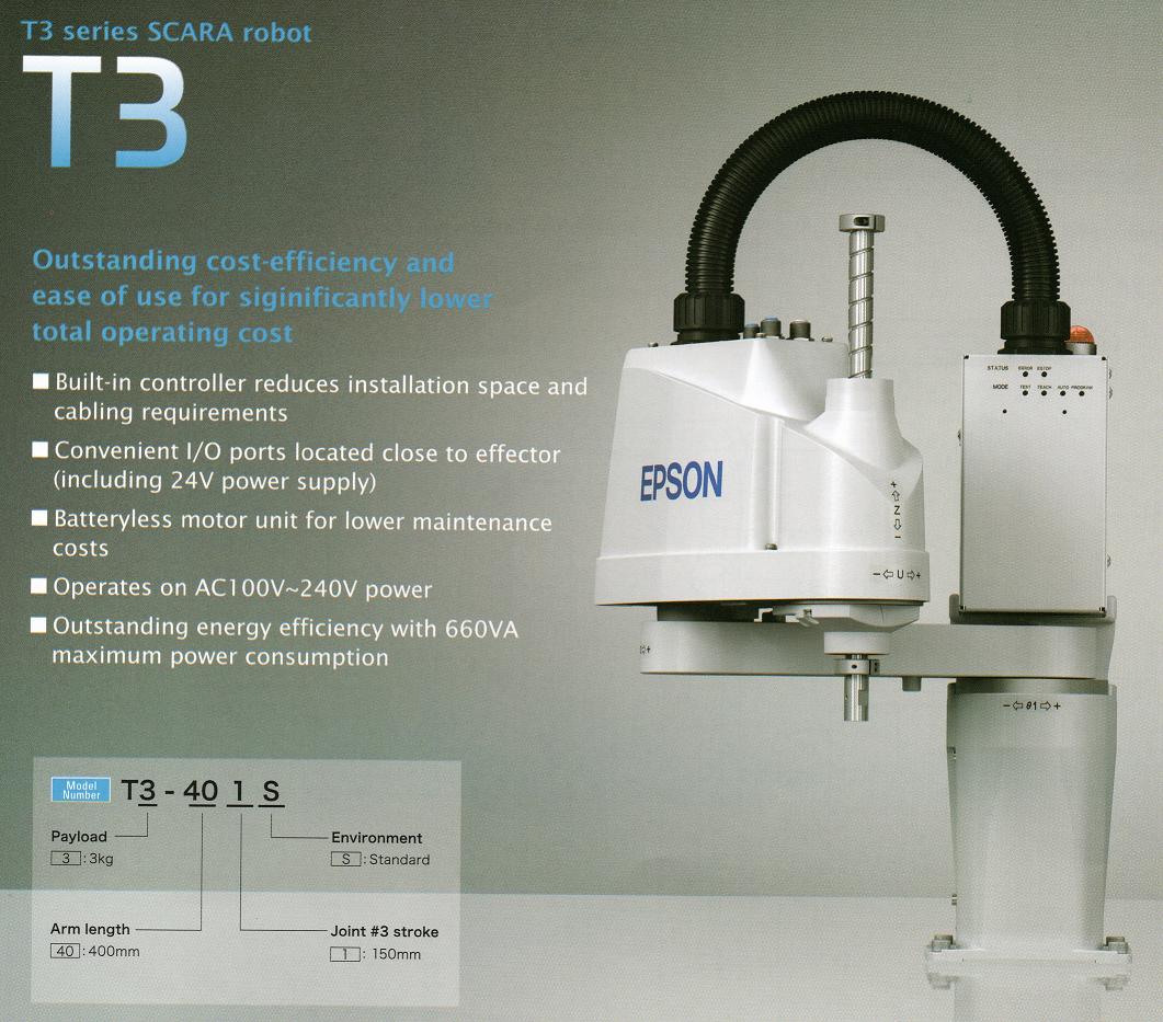 T3 Series EPSON Robots - Robotics University