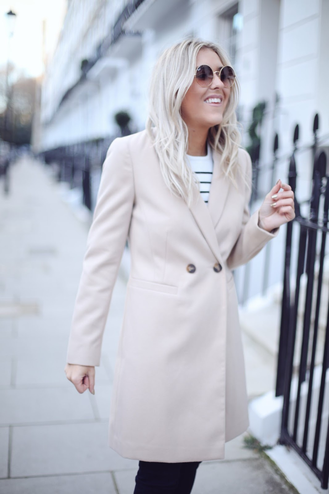 Debenhams blush coat