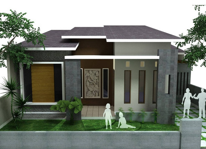 73 desain rumah minimalis tampak depan 1 lantai bergaya