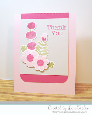 Floral Thank You card-designed by Lori Tecler/Inking Aloud-stamps and dies from My Favorite Things