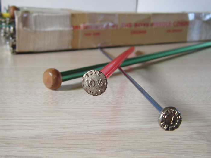 knitting needles, vintage