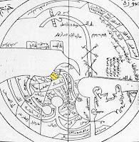 Peta dunia abad ke-10 oleh Ibnu Hawqal.