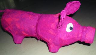 świnka skarbonka, skarbonka DIY, prace plastyczne, pani domowa, zabawy z dzieckiem