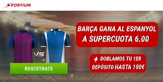 sportium derbi supercuota 6 Barcelona vs Espanyol + 100€ 30 marzo 2019