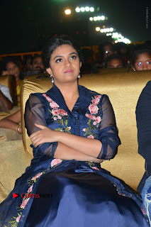 Actress Keerthi Suresh Stills in Blue Long Dress at Nenu Local Audio Launch  0009.JPG