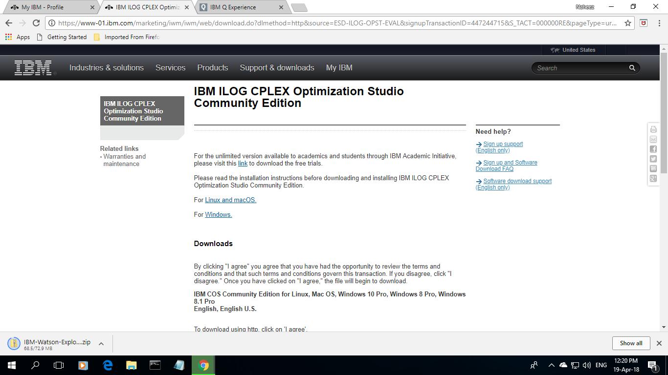 Naheez Thawfeeg's Blog: IBM® ILOG CPLEX® Optimization Studio