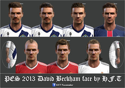 PES 2013 David Beckham facepack by H.F.T
